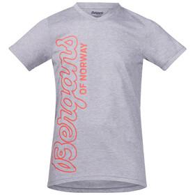 Bergans Youth Tee Grey Melange/Koi Orange